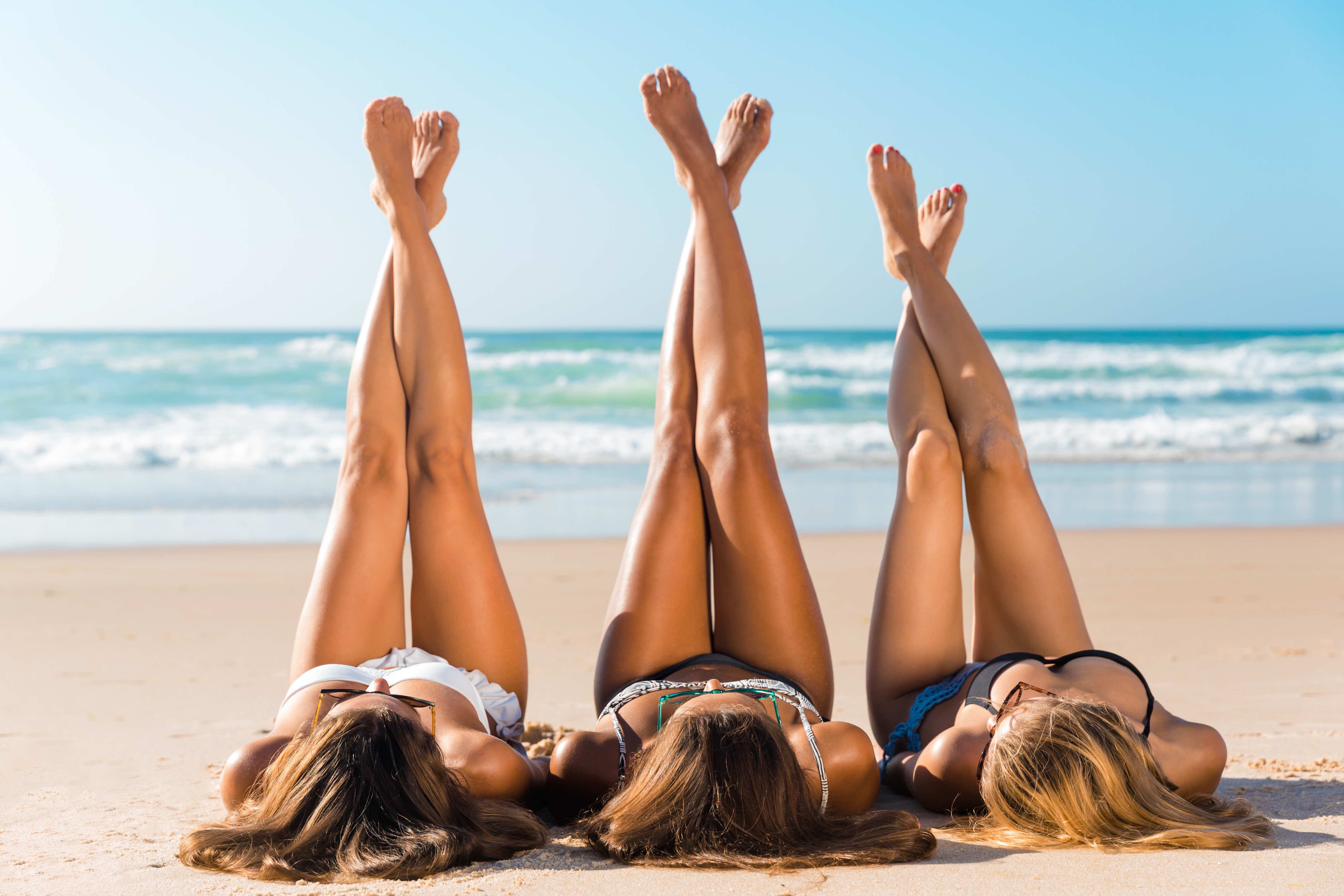 beach smooth legs after laser hair removal toronto